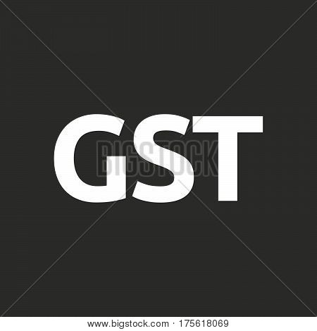 Isolated Vector Illustration Of  The Goods And Service Tax Acronym Gst