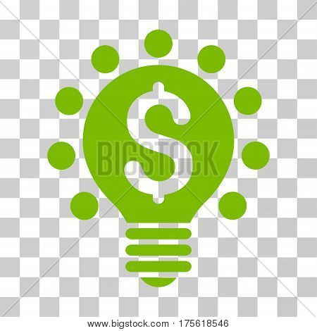 Business Patent Bulb icon. Vector illustration style is flat iconic symbol eco green color transparent background. Designed for web and software interfaces.