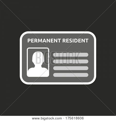 Isolated Vector Illustration Of  A Green Card