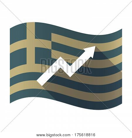 Long Shadow Greece Flag With A Graph