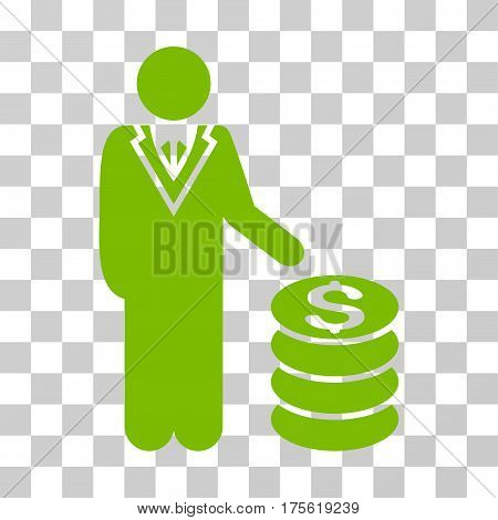Businessman icon. Vector illustration style is flat iconic symbol eco green color transparent background. Designed for web and software interfaces.