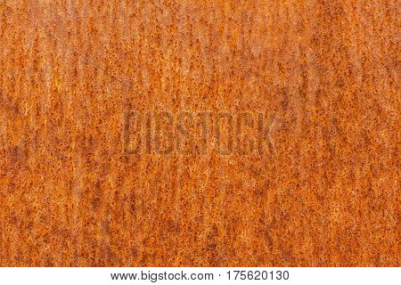 The Texture Of The Rusty Metal Is Orange.