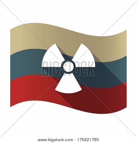 Long Shadow Russia Flag With A Radio Activity Sign