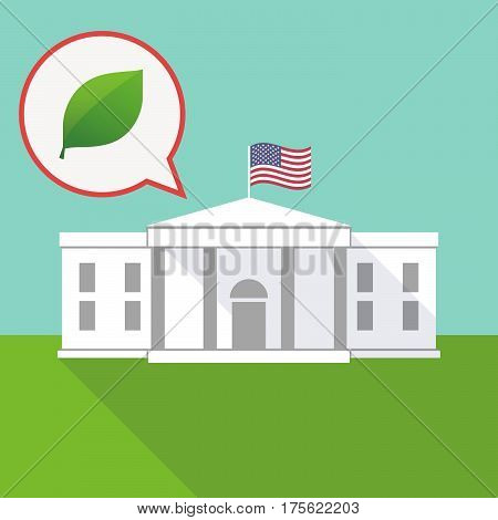 The White House With A Balloon And A Green  Leaf