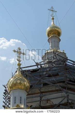 Crosses On The Cupolas