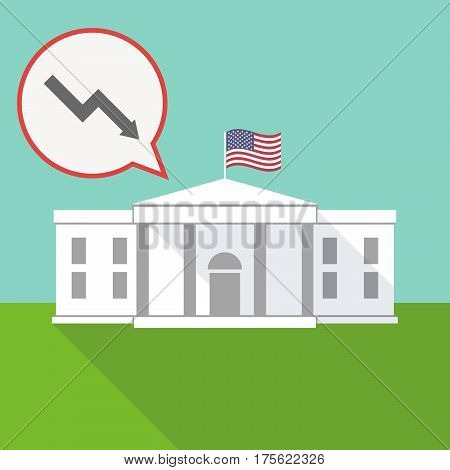 The White House With A Balloon And A Descending Graph