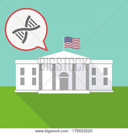 The White House With A Balloon And A Dna Sign