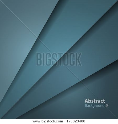 Dark green turquoise layer background paper overlap with space for artwork design. Vector illustration.