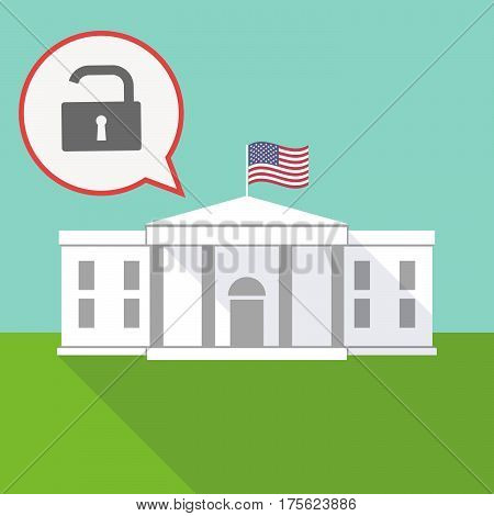The White House With A Balloon And An Open Lock Pad
