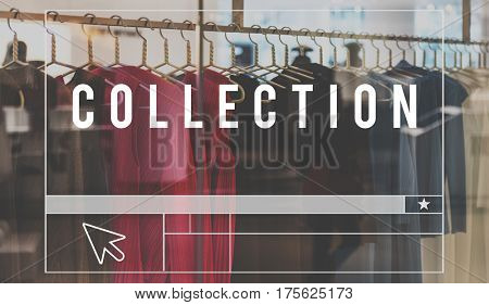 Fashion Collection Design Shopping Graphic Words