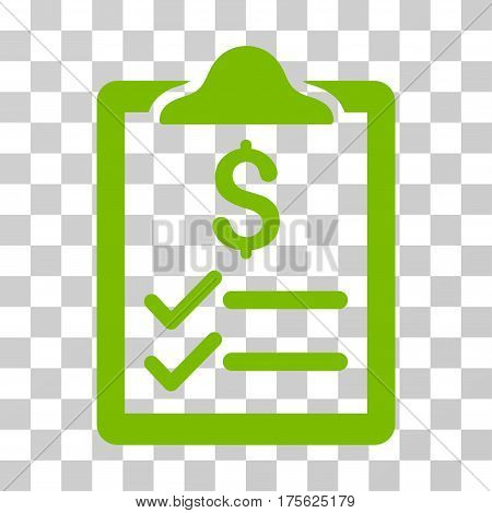 Invoice Pad icon. Vector illustration style is flat iconic symbol eco green color transparent background. Designed for web and software interfaces.