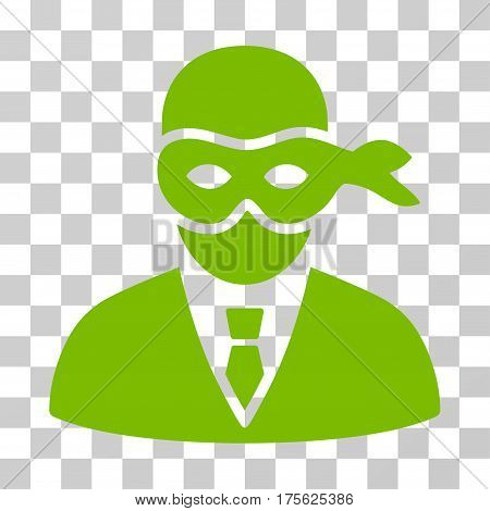 Masked Thief icon. Vector illustration style is flat iconic symbol eco green color transparent background. Designed for web and software interfaces.