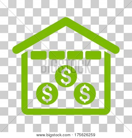 Money Depository icon. Vector illustration style is flat iconic symbol eco green color transparent background. Designed for web and software interfaces.