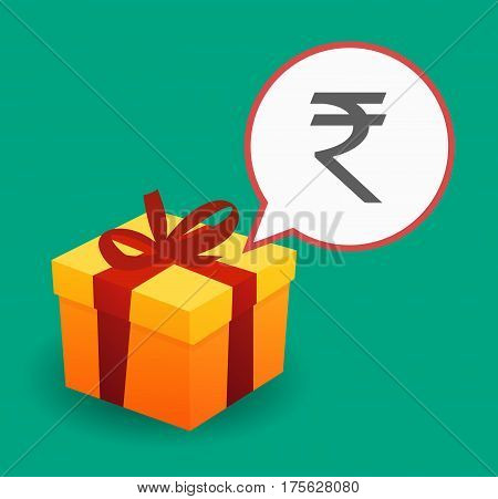 Present With A Rupee Sign