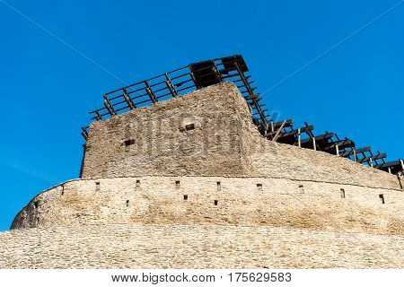old medieval fortress from Deva, Romania
