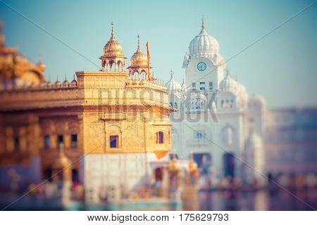 Sikh gurdwara Golden Temple (Harmandir Sahib). Amritsar Punjab India