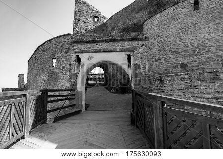 Black and white gate of the Deva fortress