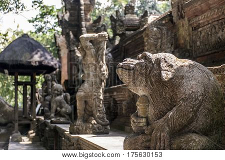 Bali Indonesia Ubud Monkey Forest Temple Sculpture Monkey Genitals