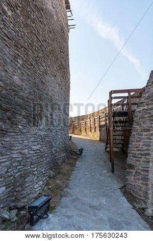 Inside the old Deva medieval fortress in Romania
