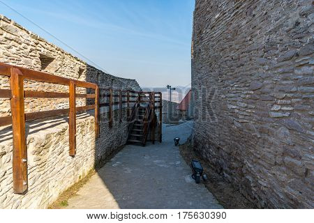 Inside the old Deva medieval fortress from Romania