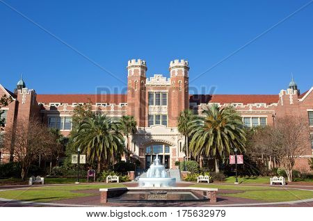 The auditorium and offices at Florida State University in Tallahassee FL USA.