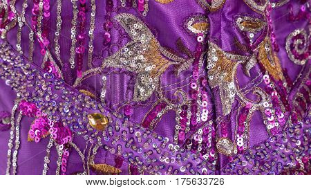 a typical Arab colorful cloth color purple