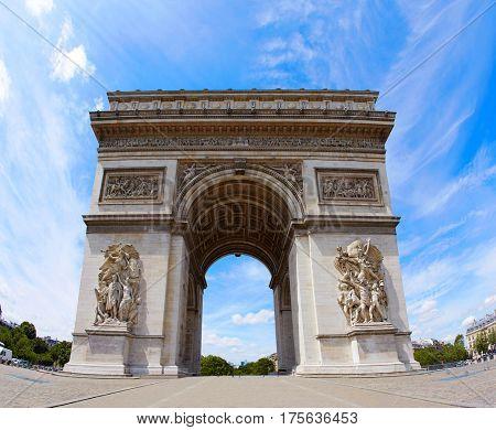 Arc de Triomphe in Paris Arch of Triumph at France