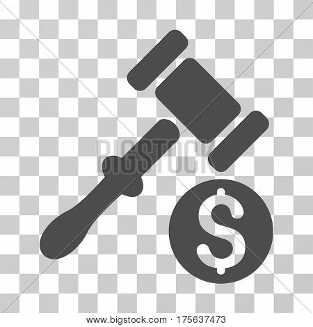 Auction icon. Vector illustration style is flat iconic symbol gray color transparent background. Designed for web and software interfaces.