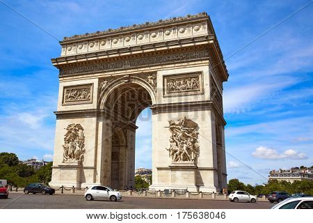Arc de Triomphe in Paris Arch of Triumph at France