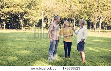 Family Reunion Park Outdoors Nature Togetherness