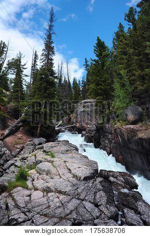 Granite Walls Of Lake Creek Falls
