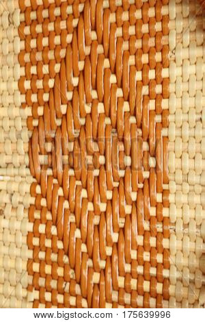 Machine woven wicker with a beautiful pattern.