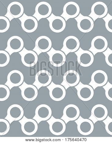 Repeating geometric objects in seamless pattern. Modern stylish texture. Background for web or print.