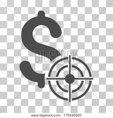 Business Target icon. Vector illustration style is flat iconic symbol gray color transparent background. Designed for web and software interfaces.