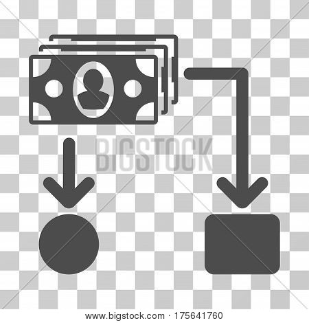 Cashflow icon. Vector illustration style is flat iconic symbol gray color transparent background. Designed for web and software interfaces.