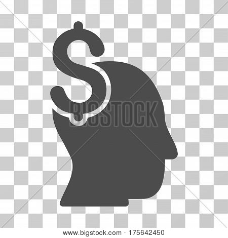 Commercial Intellect icon. Vector illustration style is flat iconic symbol gray color transparent background. Designed for web and software interfaces.