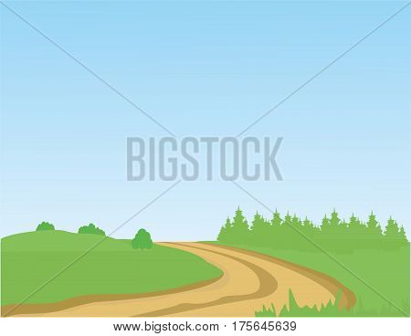 Horizon road trip - Illustration Summer, Highway, Sky, Field, Meadow