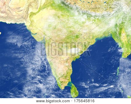 Indian Subcontinent On Planet Earth