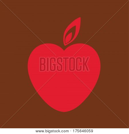 Red Vector Love Heart vector image heart with tongue of flame