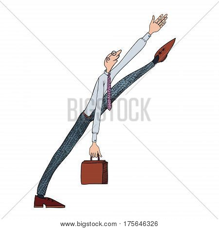 High level manager. Man dressed in a business suit with a briefcase
