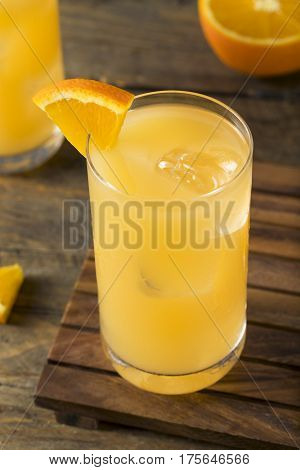 Homemade Alcoholic Gin And Juice Cocktail