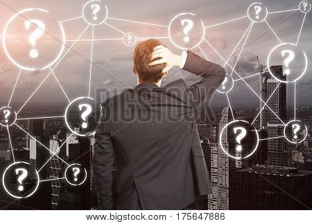 Worried Businessperson With Questions