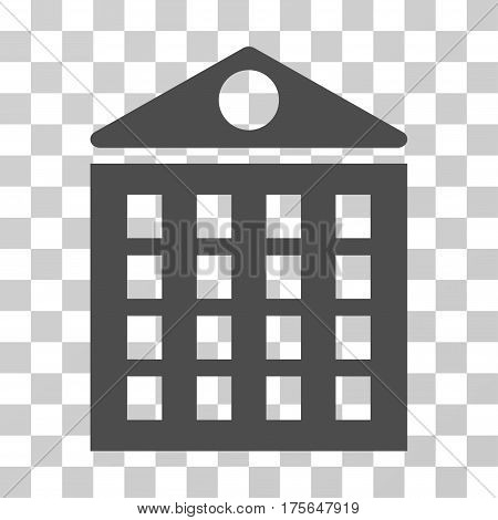 Multi-Storey House icon. Vector illustration style is flat iconic symbol, gray color, transparent background. Designed for web and software interfaces.