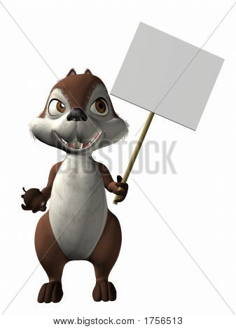 3 D Computer Render of an Toon Squirrel poster
