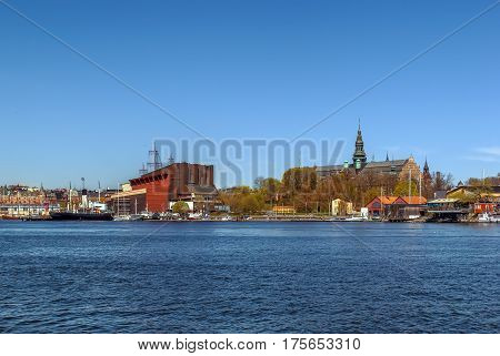 The Nordic Museum Vasa Museum is museums located on Djurgarden island in central Stockholm Sweden