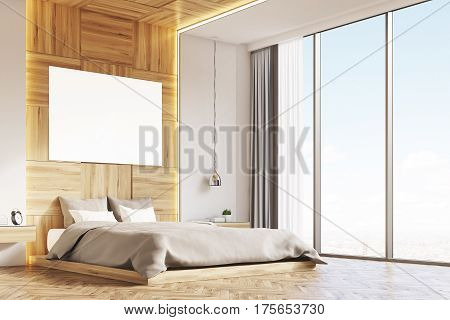 Bedroom With Picture, Light Wood, Corner