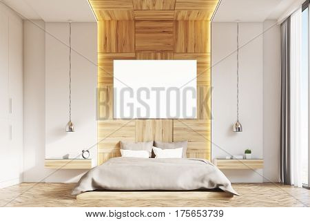 Bedroom With Picture, Light Wood, Front