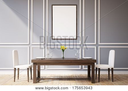 Dining Room With A Picture