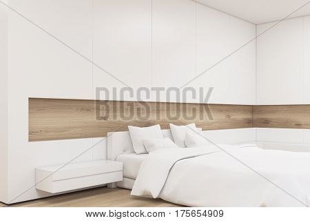 Corner Of A Light Wooden Bedroom