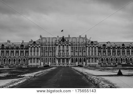 Palace in Tsarskoe Selo Pushkin Saint Petersburg